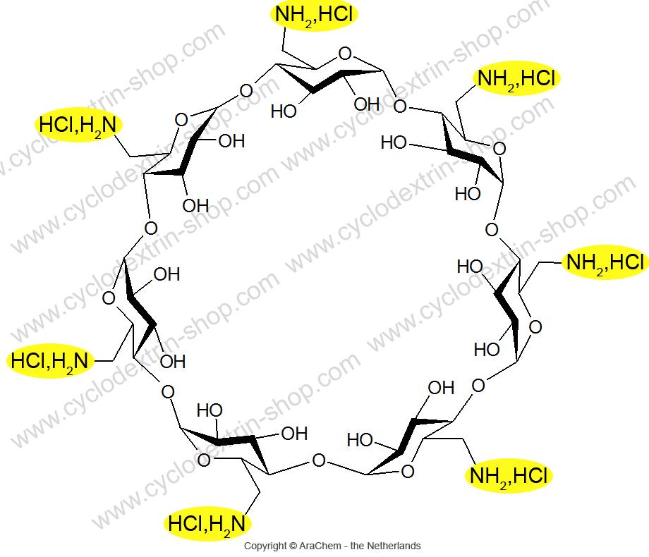 Heptakis-(6-amino-6-deoxy)-beta-Cyclodextrin heptahydrochloride