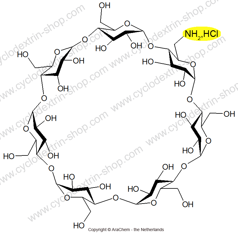 6-Monoamino-6-monodeoxy-beta-Cyclodextrin hydrochloride