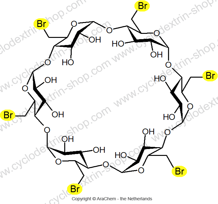 hexakis-(6-bromo-6-deoxy)-alpha-cyclodextrin
