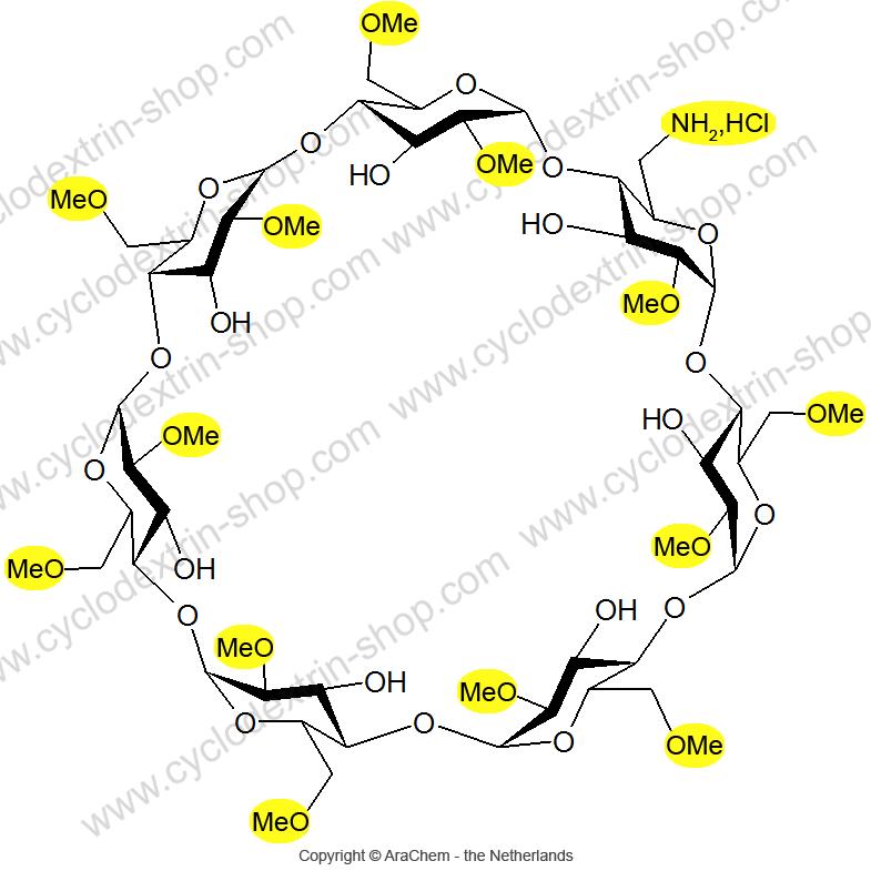 6-Monoamino-6-monodeoxy-2-O-methyl-hexakis-(2,6-di-O-methyl)-beta-Cyclodextrin.HCl