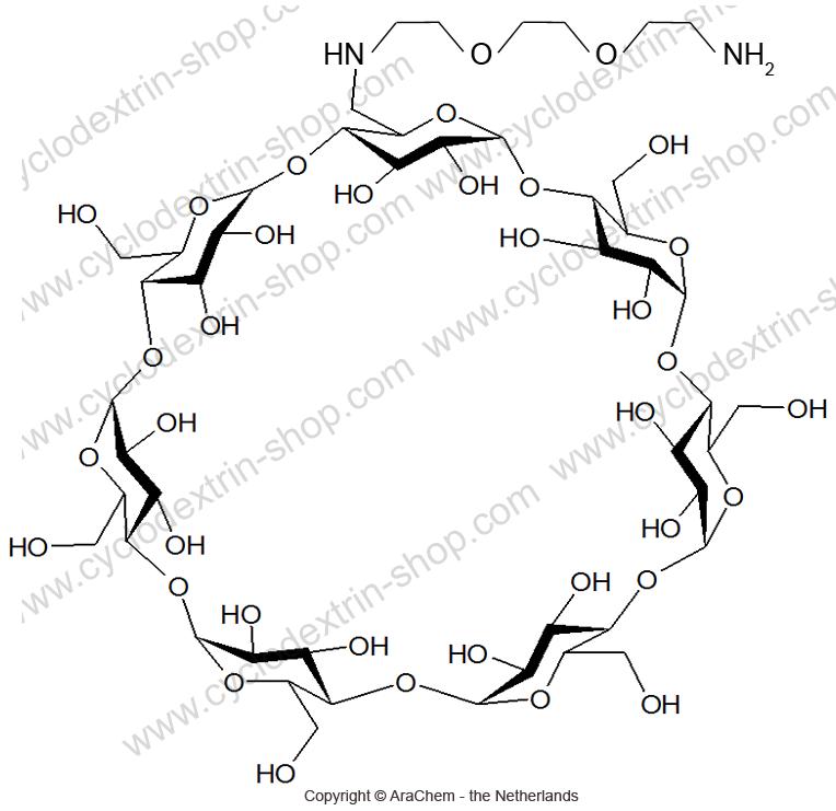 6-Monodeoxy-6-mono-(1-amino-3,6-dioxa-8-octanediamine)-beta-Cyclodextrin